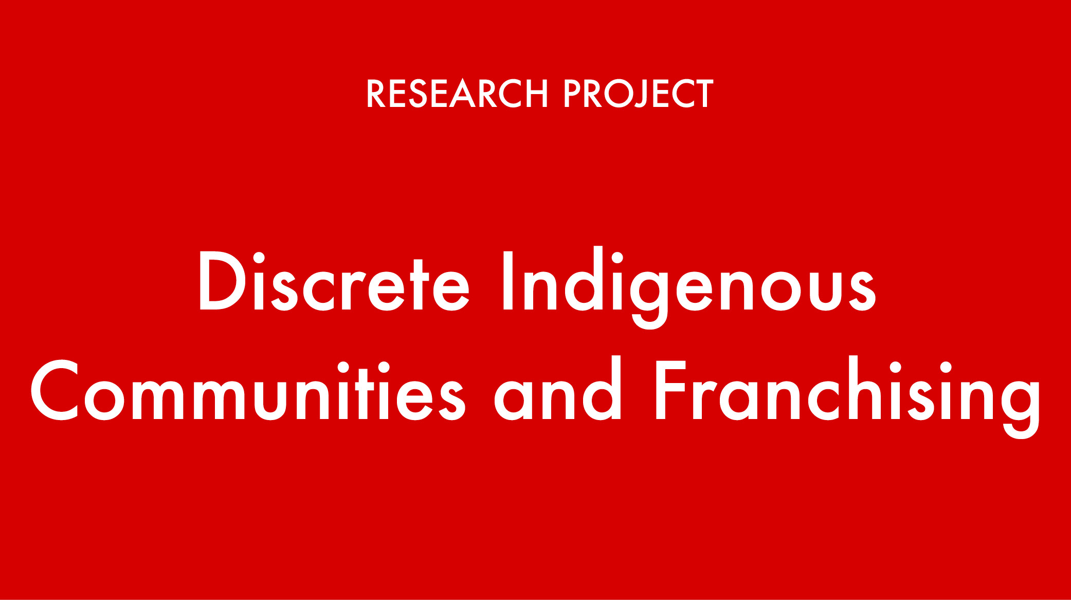 Button Discrete Communities1 - Indigenous Franchise Research